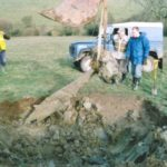 Lifting the propeller from the crash site of Armstrong Whitworth Albemarle V1604