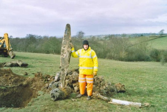Alan Clark with the propeller recovered from the crash site of Armstrong Whitworth Albemarle V1604