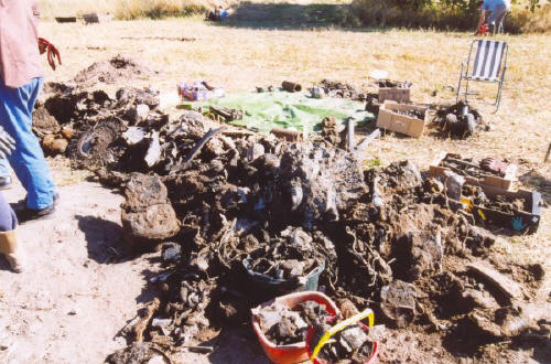 Excavating the crash site of Supermarine Attacker F.B. Mk.1 WA535 at Winwick, Warrington