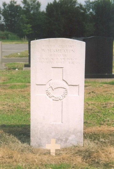 Grave of Sergeant Wilfred Hurbert Smeaton at Buxton Cemetery, Derbyshire