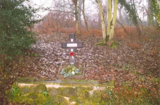 Memorial at the crash site of Martin Baltimore AG689 near Rednal, Shropshire