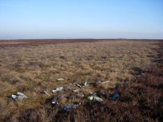 Crash site of Curtiss Tomahawk AH744 on Red Gill Moss, Barnard Castle, County Durham