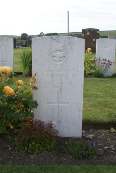 Grave of Pilot Officer Ivan Harold Betts at Kirkinner Cemetery, Wigtown