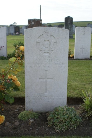 Grave of Sergeant George Douglas Calder at Kirkinner Cemetery, Wigtown