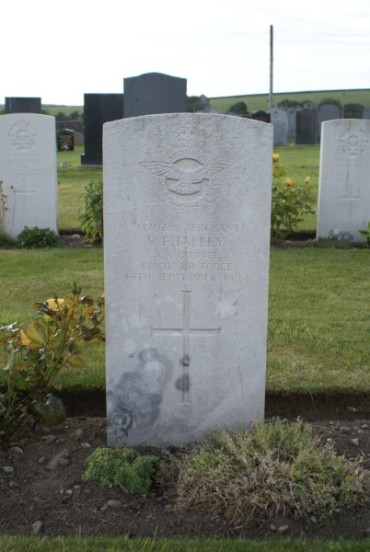 Grave of Sergeant Victor Frederick Talley at Kirkinner Cemetery, Wigtown