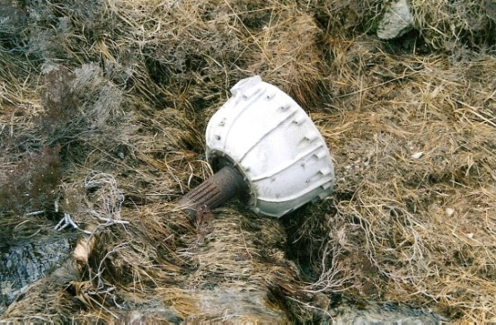 Propeller reduction gearbox at the crash site of Vought Chesapeake AL941 in Glean Diomhan, Isle of Arran