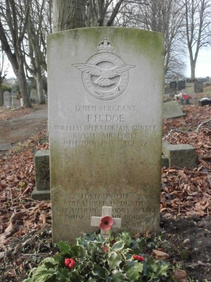 Grave of Sergeant Frederick Harry Doe at Ashbourne Cemetery