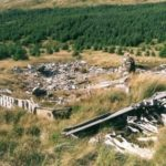Overview of the crash site of Boeing B-29 44-62276 in Succoth Glen below Beinn Tharsuinn near Lochgoilhead