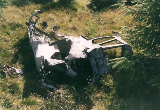 Tail turret at the crash site of Boeing B-29 44-62276 in Succoth Glen below Beinn Tharsuinn near Lochgoilhead
