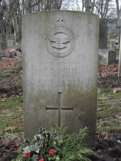 Grave of Sergeant William Brooksbank Smith at Ashbourne Cemetery