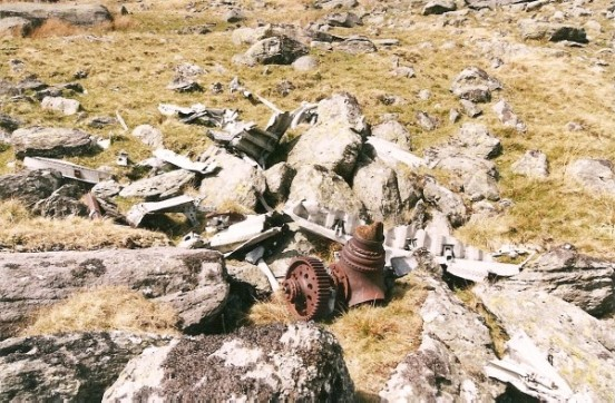 Propeller boss near the crash site of Whitley BD232 on Foel Fras, Llyn Dulyn the Carneddau