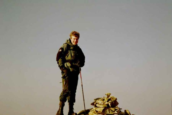 Alan on the summit of Beda Head close to the crash site of Lockheed Hudson AM680