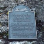 Memorial Plaque in memory of the crew of Wellington BJ652 in Middleton by Youlgreave, Derbyshire