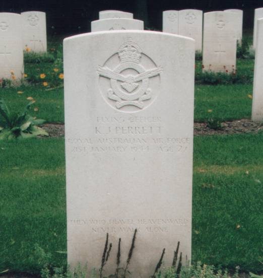 Grave of Keith Jobson Perrett at Blacon Cemetery, Chester