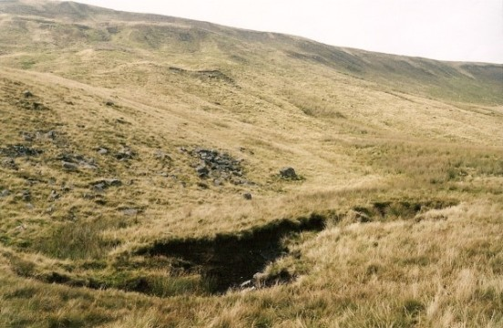 View towards where the aircraft impacted on Whernside, Yorkshire