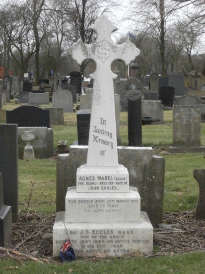 Grave of Sergeant John Stoppard Eccles at Salford (Agecroft) Cemetery