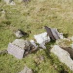 Wreckage at the crash site of Douglas Boston Z2186 on Carnedd Dafydd, Snowdonia, Wales