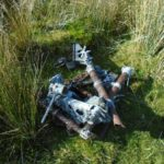 Wreckage at the crash site Airspeed Oxford Mk.I DF471 on Great Coum, Cumbria