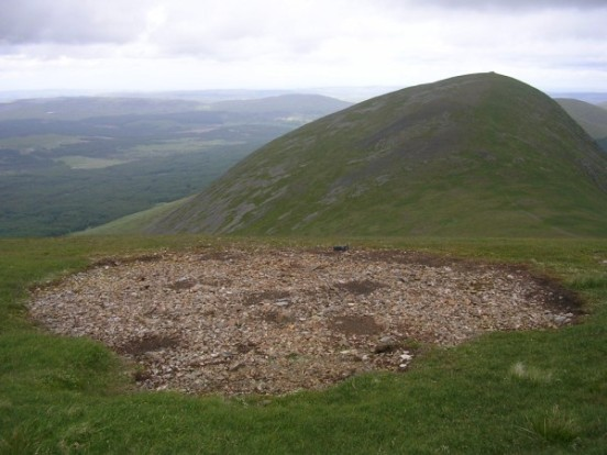 Circular scar at the crash site of Avro Anson Mk.I DG787 on Corserine, Rhinns of Kells