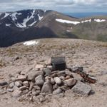 Memorial cairn at the crash site of Avro Anson DJ106 on Ben MacDui, Cairngorm Mountains