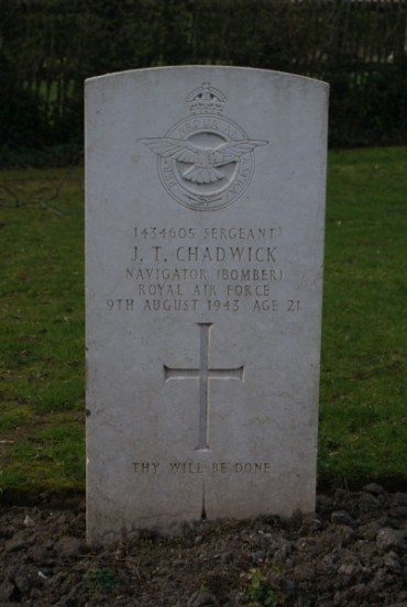 Grave of Sergeant John Taylor Chadwick at Chester Blacon Cemetery