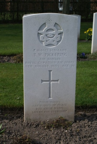 Grave of Sergeant Thomas William Pickering at Chester Blacon Cemetery