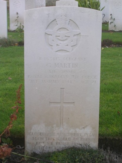 Grave of Sergeant George Martin at Harrogate Stonefall Cemetery