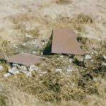 Wreckage at the crash site of Halifax DT581 on Hoar Side Moor, Todmorden, Yorkshire
