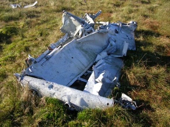 Section of wing structure from Fairey Firefly DT977 on Blaeloch Hill, Largs, Ayrshire