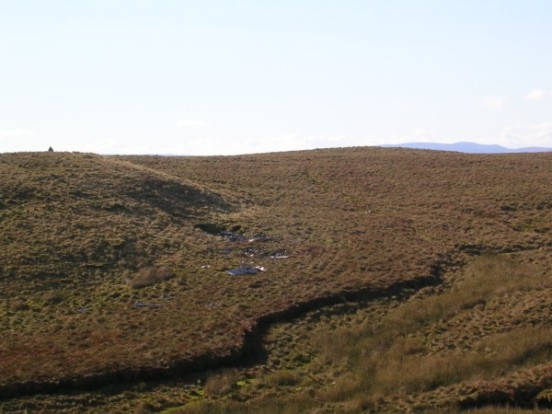 Overview of the crash site of Fairey Firefly DT977 on Blaeloch Hill near Largs