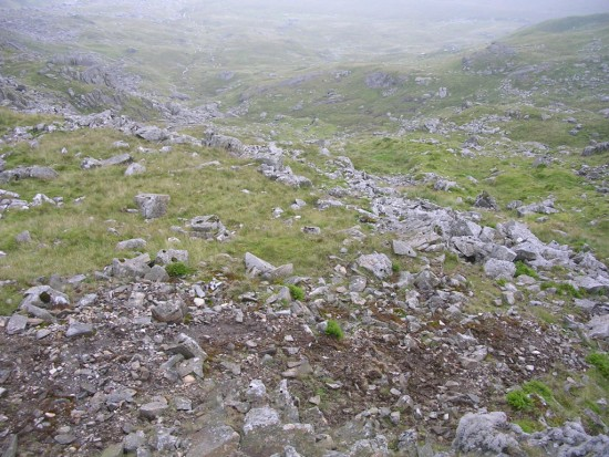 Wreckage at the crash site of Wellington DV800 on Carnedd Dafydd / Llewelyn