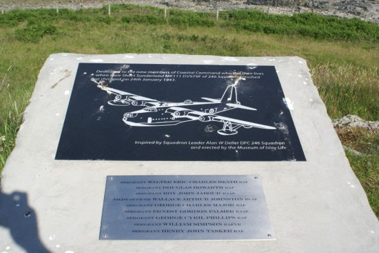 Memorial plaque at Black Rock, Islay