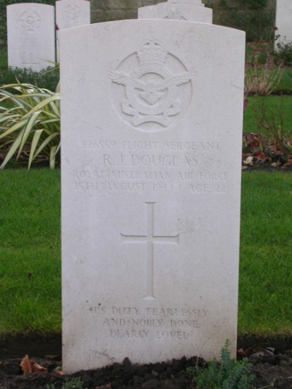 Grave of Flight Sergeant Robert James Douglas at Harrogate Stonefall Cemetery