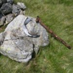 Wreckage at the crash site of Avro Anson EG110 on Foel Grach, the Carneddau, Snowdonia