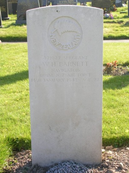 Grave of Sergeant William Henry Barnett at Caernarfon Llanbeblig Cemetery