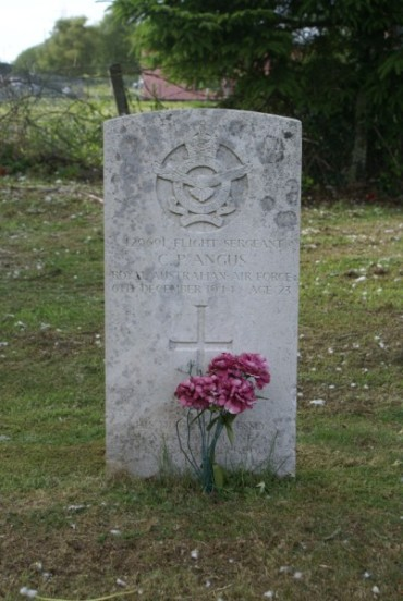 Grave of Flight Sergeant Colwyn Parker Angus at Newton Stewart Cemetery
