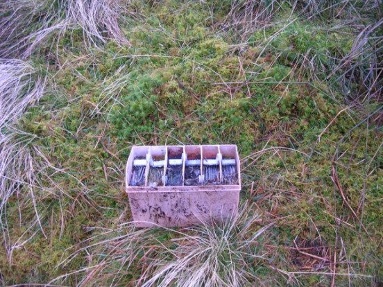 Battery at the crash site of Cessna 206 Skylane EI-BGK on Beinn an Leathaid, Ardnamurchan