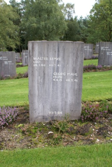 Graves of Walter Lemke and Georg Mahl at Cannock Chase German Military Cemetery