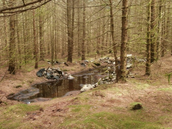 Crash site of Grumman Avenger Mk.I FN821 on Trum y Fawnog, Llangynog, the Berwyn Mountains, Powys - Peak District Air Accident Research