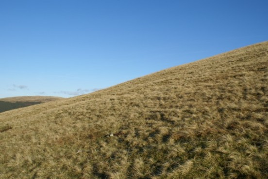 The crash site of Miles Hawk G-ALGJ on Lank Rigg in the Lake District