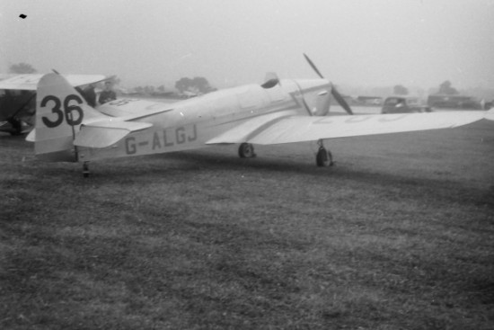 Miles Hawk Mk.3 G-ALGJ at Hatfield during 1951