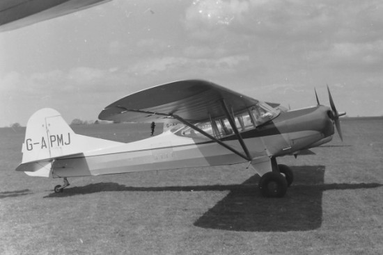 Auster Workmaster G-APMJ before it was written off - copyright Gerald Lawrence via Tony Clark