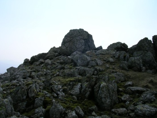 The rock near Esk Hause that Piper Cherokee G-ASEK flew into