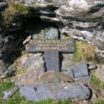 Memorial commemorating Fiona McWilliam on Moel Sych near the crash site of Cessna G-BXLJ