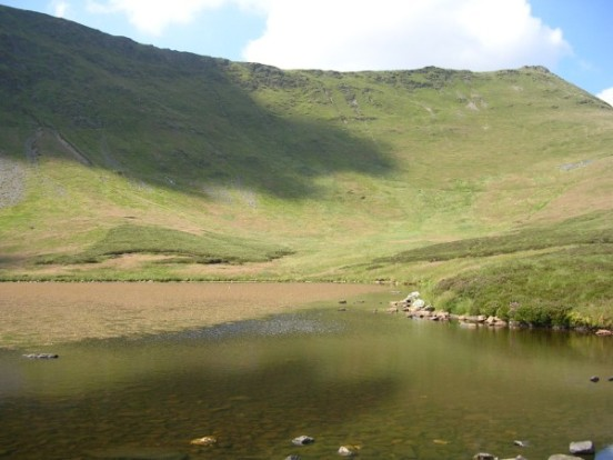 Moel Sych seen from Llyn Lluncaws