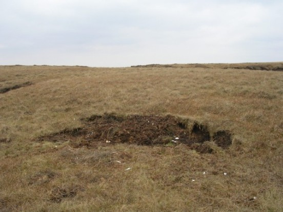 Crash site of Flight Design CTSW G-CFAZ on Saddleworth Moor, Oldham