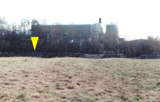 Closer view of the wall which Supermarine Spitfire P9563 crashed into at Hartington, Derbyshire