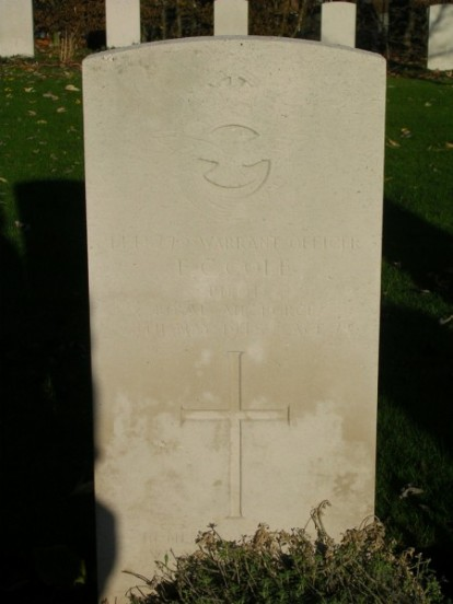 Grave of Warrant Officer Edward Cyril Cole at Harrogate Stonefall Cemetery