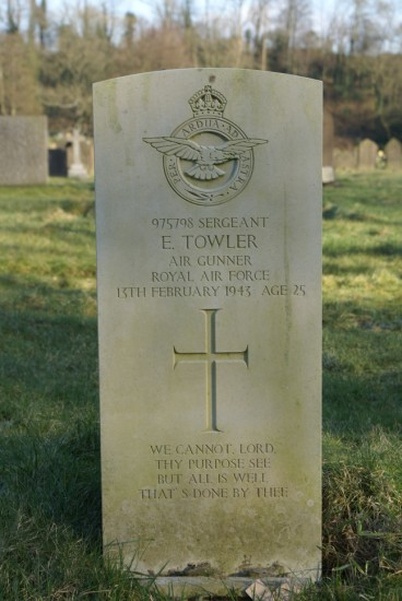Sergeant Edwin Towler's grave at Bolton