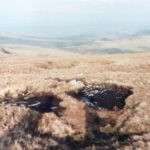 Crash site of Vickers Wellington HE466 on Foel Grach in the Carneddau area of Snowdonia